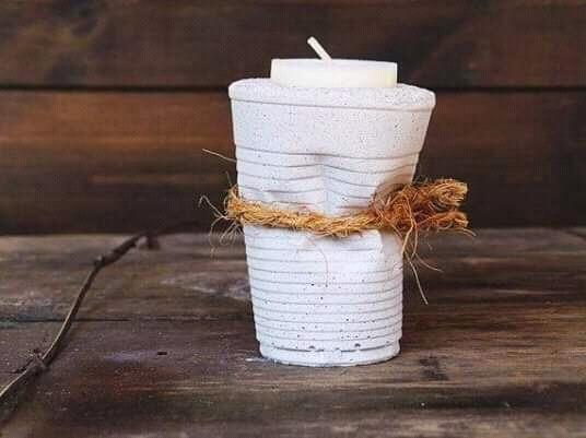 suportes para velas, feita artesanalmente