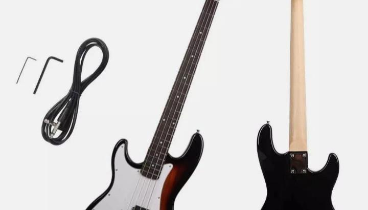 Guitarra Baixo Eléctrico Canhoto